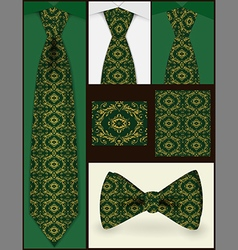 Tie and seamless pattern on it vector image vector image
