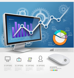 3d infographics web design template vector image vector image