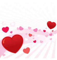 abstract valentine hearts background i vector image