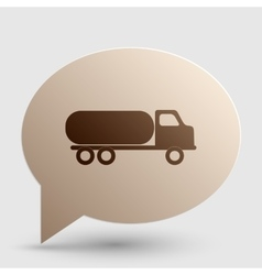 Car transports sign brown gradient icon on bubble vector
