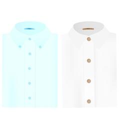 mens folded shirts vector image vector image
