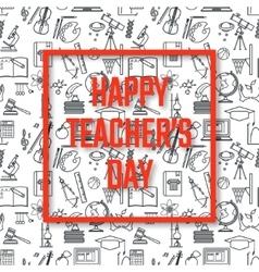 Teachers day holidays vector