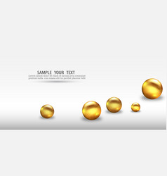 3d gold geometric balls abstract geometric vector image