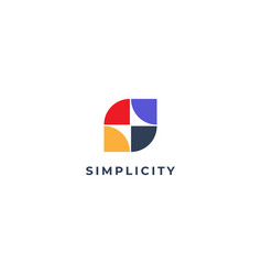 Abstract simple tiles s letter logo shape design vector