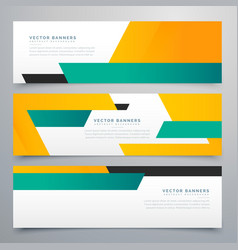 Amazing geometric banners and headers collection vector