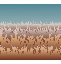 big crowd vector image