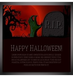 big halloween banner - hand going vector image