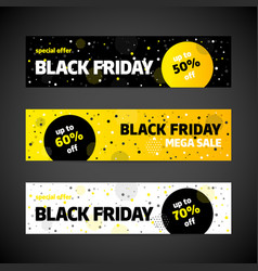 black friday sale banner template design vector image