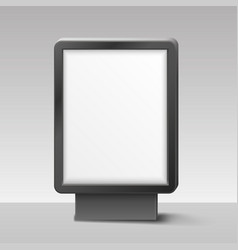 Blank lightbox or signboard on white background vector