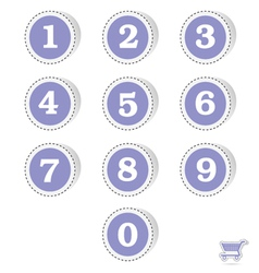 blue sticker with numbers vector image