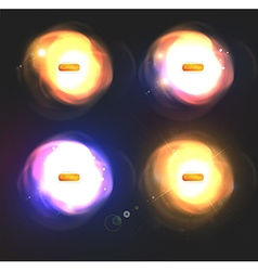 Blurred Light Set vector