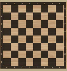 Chess wooden board vector