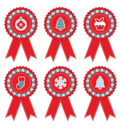 christmas rosettes vector image vector image