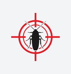 cockroach icon red target vector image