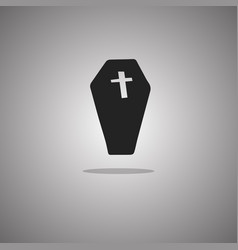Coffin halloween isolated vector