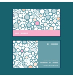 colorful bubbles horizontal stripe frame pattern vector image
