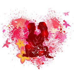 couple practicing tantra yoga vector image