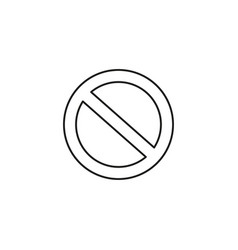 disabled restriction icon vector image