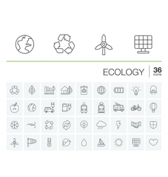 Ecology and environmental icons vector
