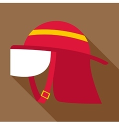 Firefighter helmet icon flat style vector