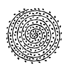 Floral spiral ornament hand drawn sketch for your vector