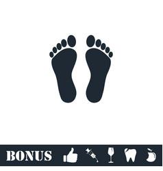 Footprint icon flat vector