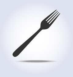 fork simple icon gray colors vector image