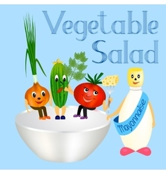 fresh vegetables for cooking salad vector image