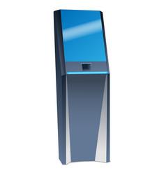 Futuristic kiosk screen icon realistic style vector