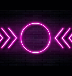 Futuristic sci fi modern neon pine glowing arrows vector