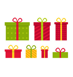 gifts on christmas present box for xmas icons vector image