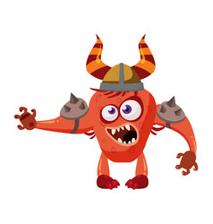 Goblin troll cute funny fairytale character vector