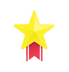 gold star and red ribbon vector image