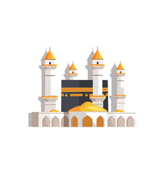 Gorgeous arabian mosque surrounded with towers vector