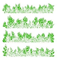 Green leaves border EPS 10 vector