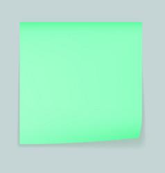 Green memo stick concept background realistic vector