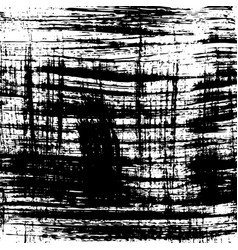 Grunge background black and white brush vector