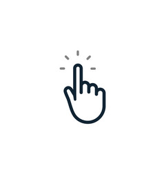 Hand pointer click icon cursor button finger vector