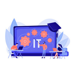 information technology courses concept vector image