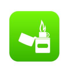 lighter icon digital green vector image