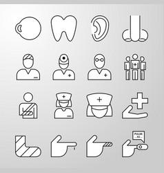 medical hospital health thin line icon vector image