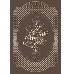 Menu brown vector
