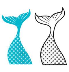 Mermaid tail design vector