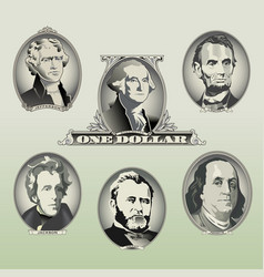 money Oval Presidents vector image