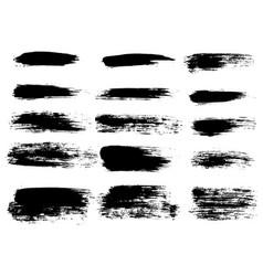 Painted grunge stripes set black labels vector
