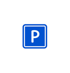 parking zone roadsigns isolated on white vector image