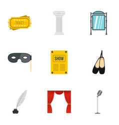 performance icons set flat style vector image