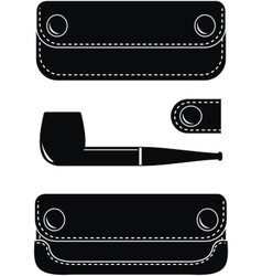pipe case pipe and key case vector image