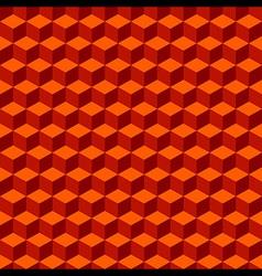 Red Orange Geometric Volume Seamless Pattern vector