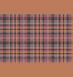 red orange mosaic plaid seamless fabric texture vector image